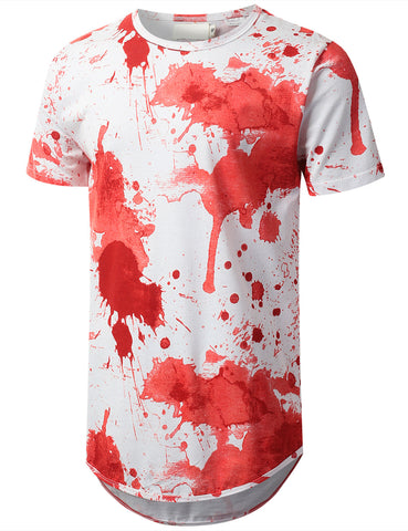 Splatter Watercolor Longline T-shirt