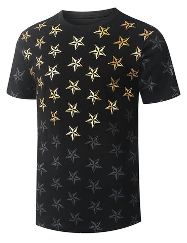 Star Print Graphic T-shirt