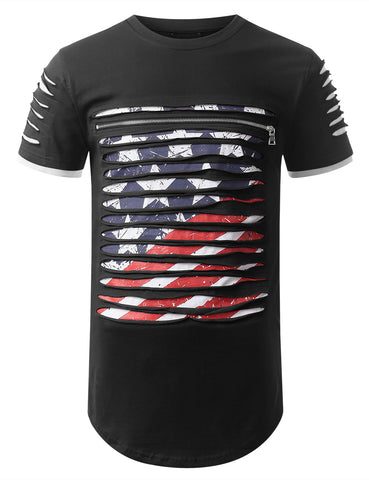 Razor Slashed Americana T-shirt