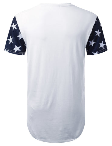 Made In USA Flag Longline T-shirt