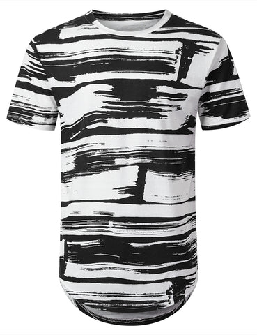 Horizontal Paint Longline T-shirt