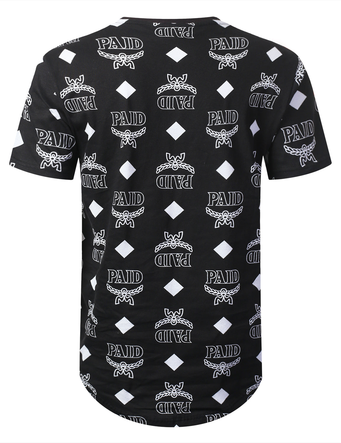 BLACK Paid Diamond Longline T-shirt - URBANCREWS