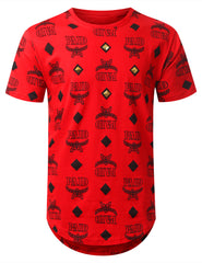 RED Paid Diamond Longline T-shirt - URBANCREWS