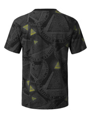 BLACK Money All Over Graphic Print T-shirt - URBANCREWS