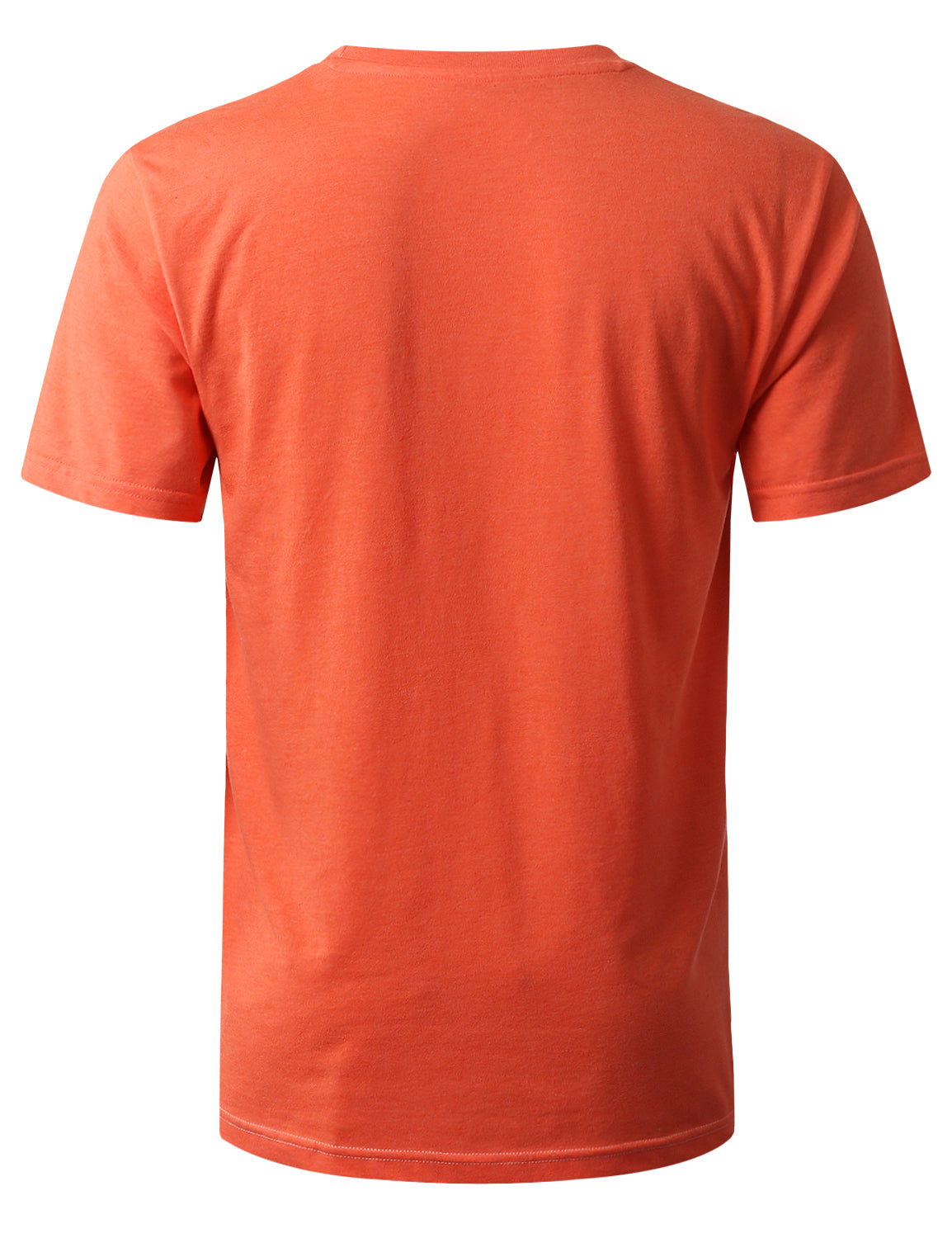 ORANGE Color Block Pocket Print T-Shirt - URBANCREWS
