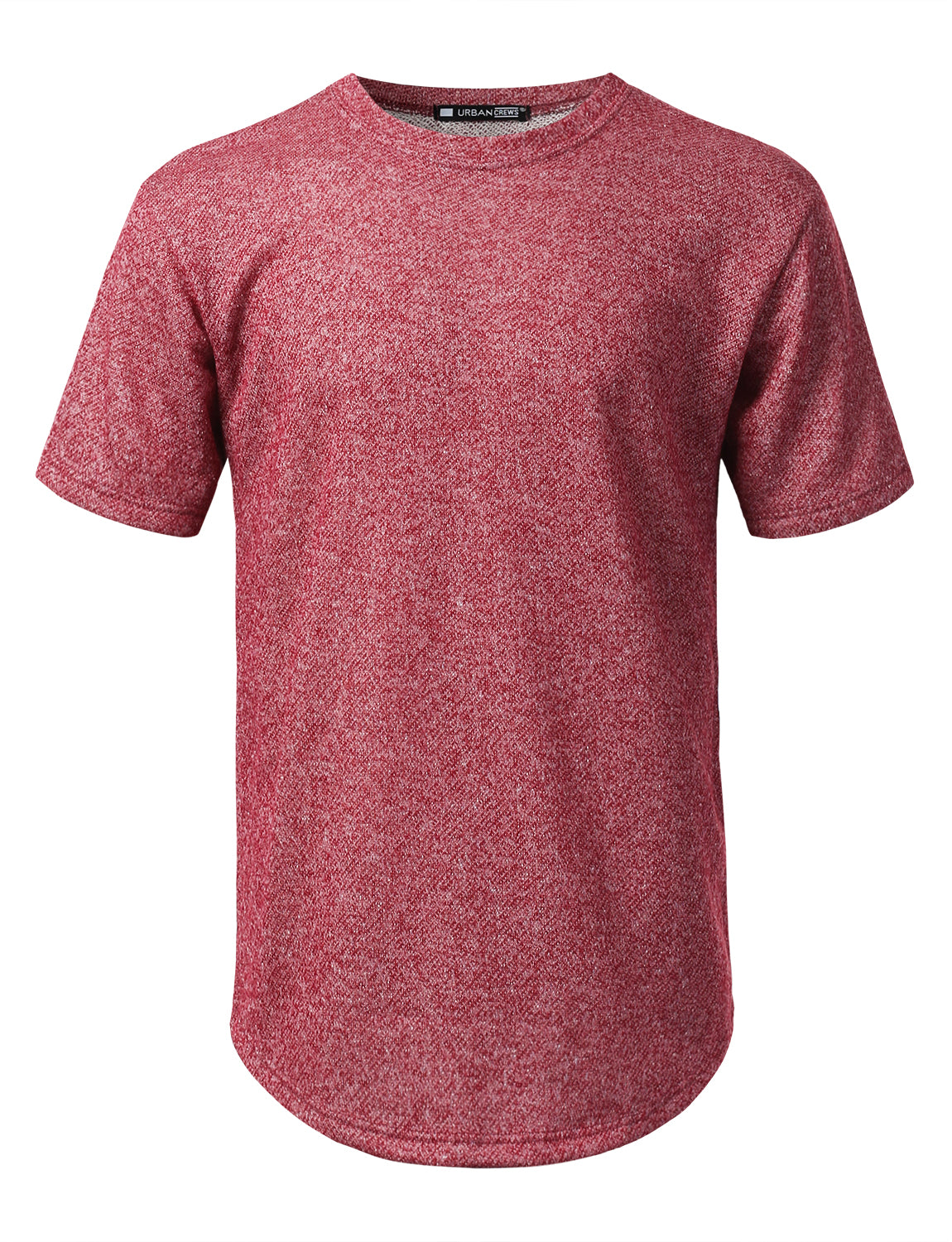 1654d51a2 BURGUNDY Thick French Terry T-shirt - URBANCREWS