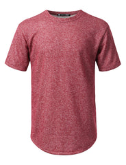 BURGUNDY Thick French Terry T-shirt - URBANCREWS