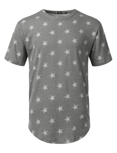 Star Pattern Knit T-shirt