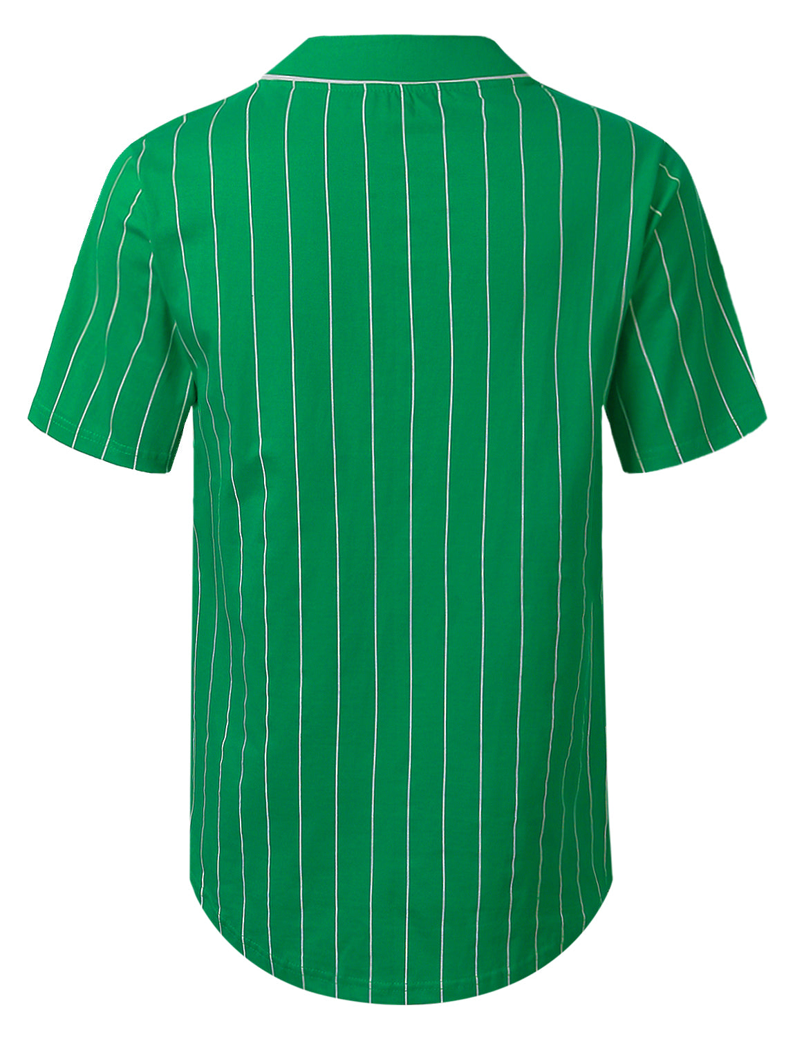 GREEN Striped Baseball Jersey Shirt - URBANCREWS