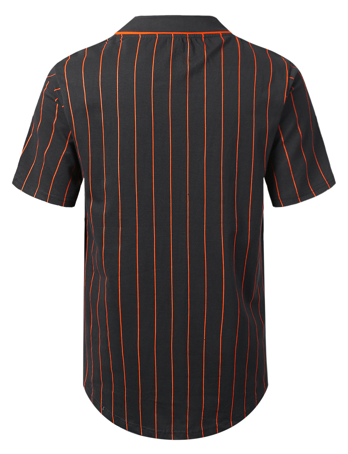 GREY Striped Baseball Jersey Shirt - URBANCREWS