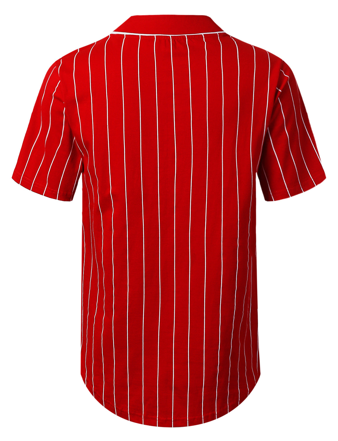 RED Striped Baseball Jersey Shirt - URBANCREWS