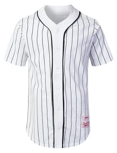 Striped Baseball Jersey Shirt