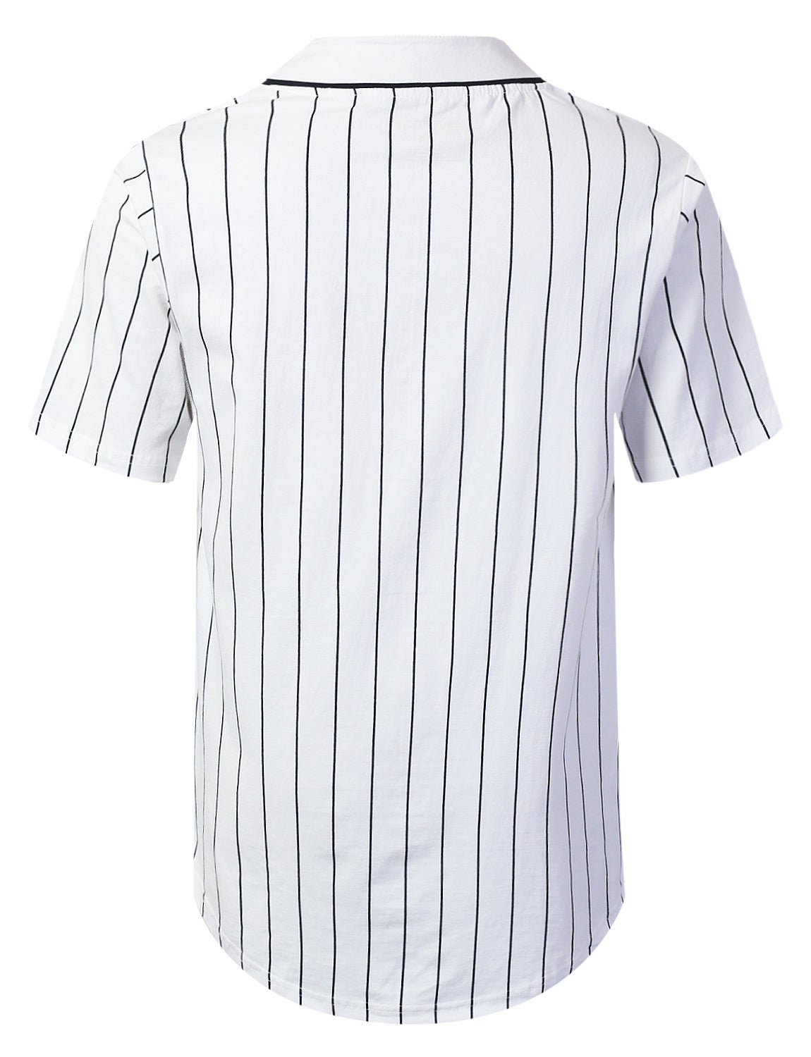 WHITE Striped Baseball Jersey Shirt - URBANCREWS