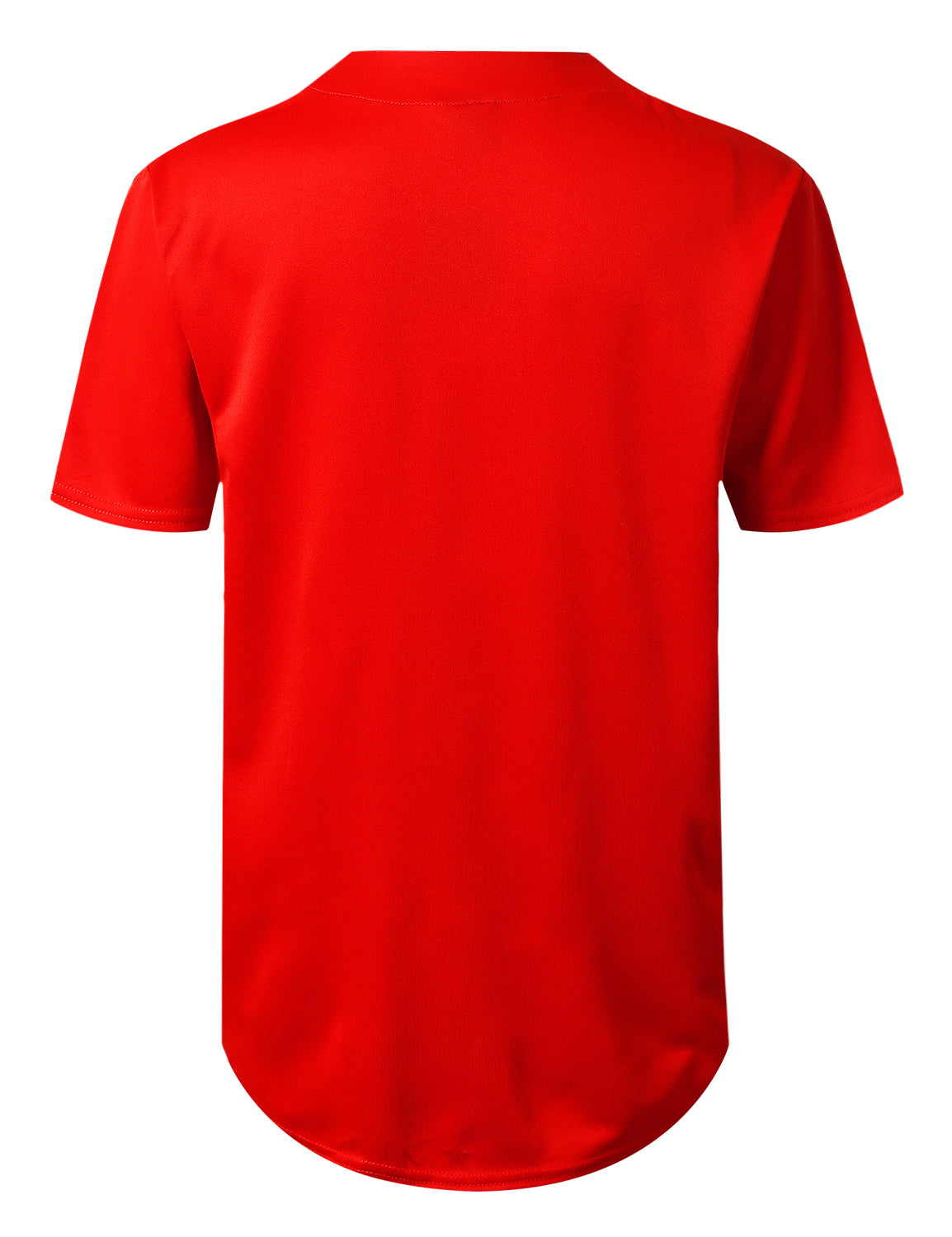 RED Basic Solid Baseball Jersey Shirt - URBANCREWS