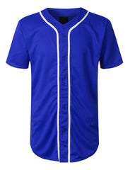 ROYAL Basic Solid Baseball Jersey Shirt - URBANCREWS