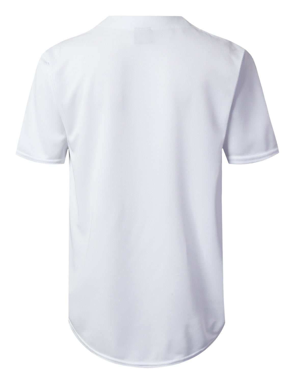 WHITE Basic Solid Baseball Jersey Shirt - URBANCREWS