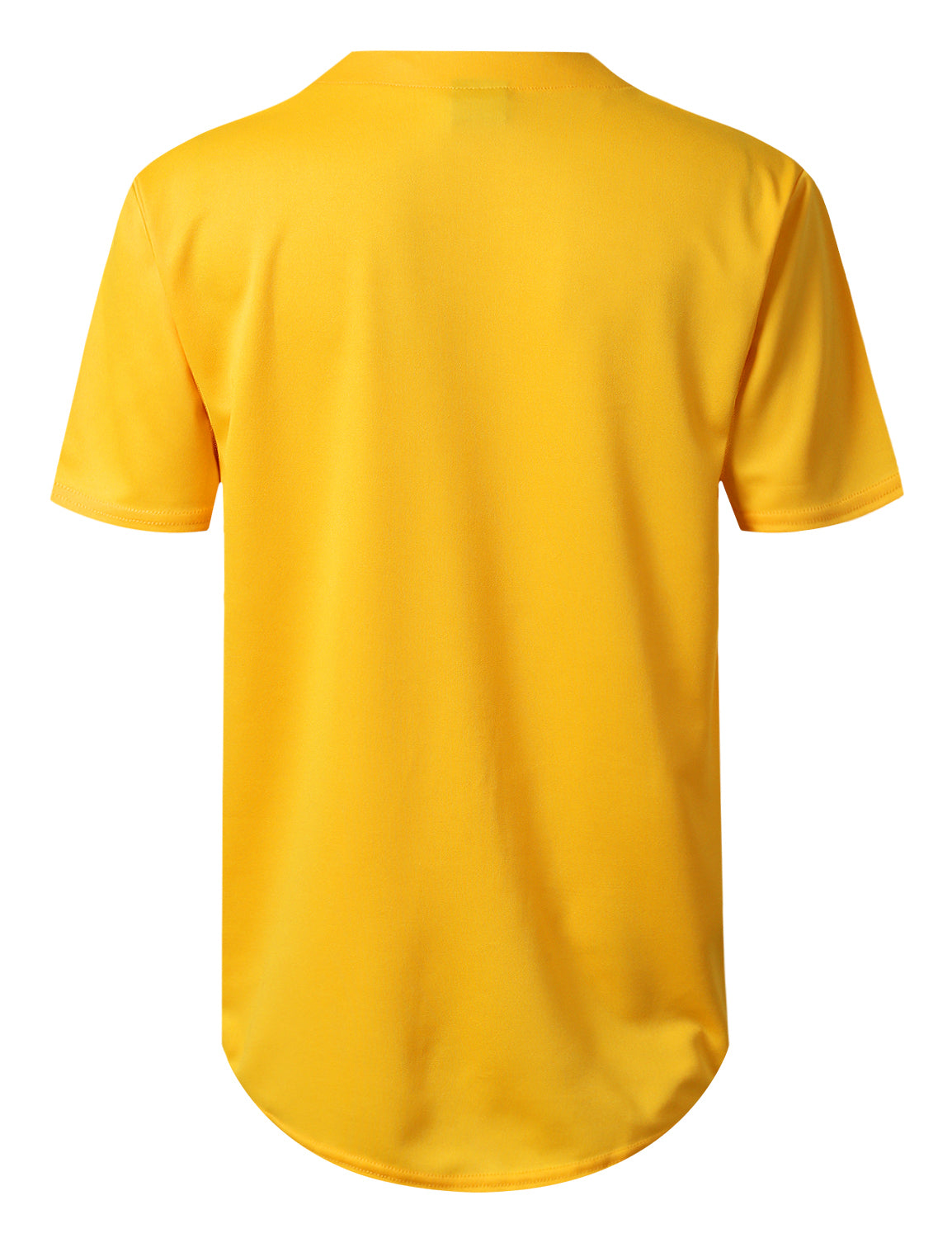 YELLOW Basic Solid Baseball Jersey Shirt - URBANCREWS