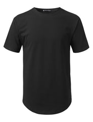 BLACK Solid Color Cotton T-shirt - URBANCREWS