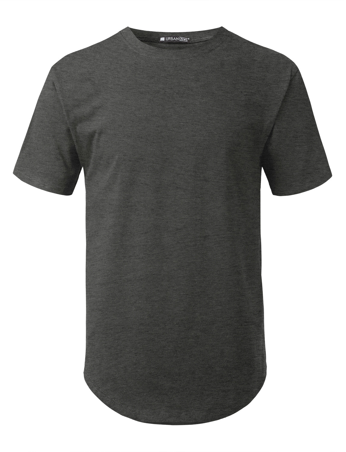 CHARCOAL Solid Color Cotton T-shirt - URBANCREWS