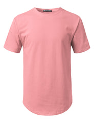 DUSTYPINK Solid Color Cotton T-shirt - URBANCREWS