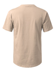 MOCHA Solid Color Cotton T-shirt - URBANCREWS