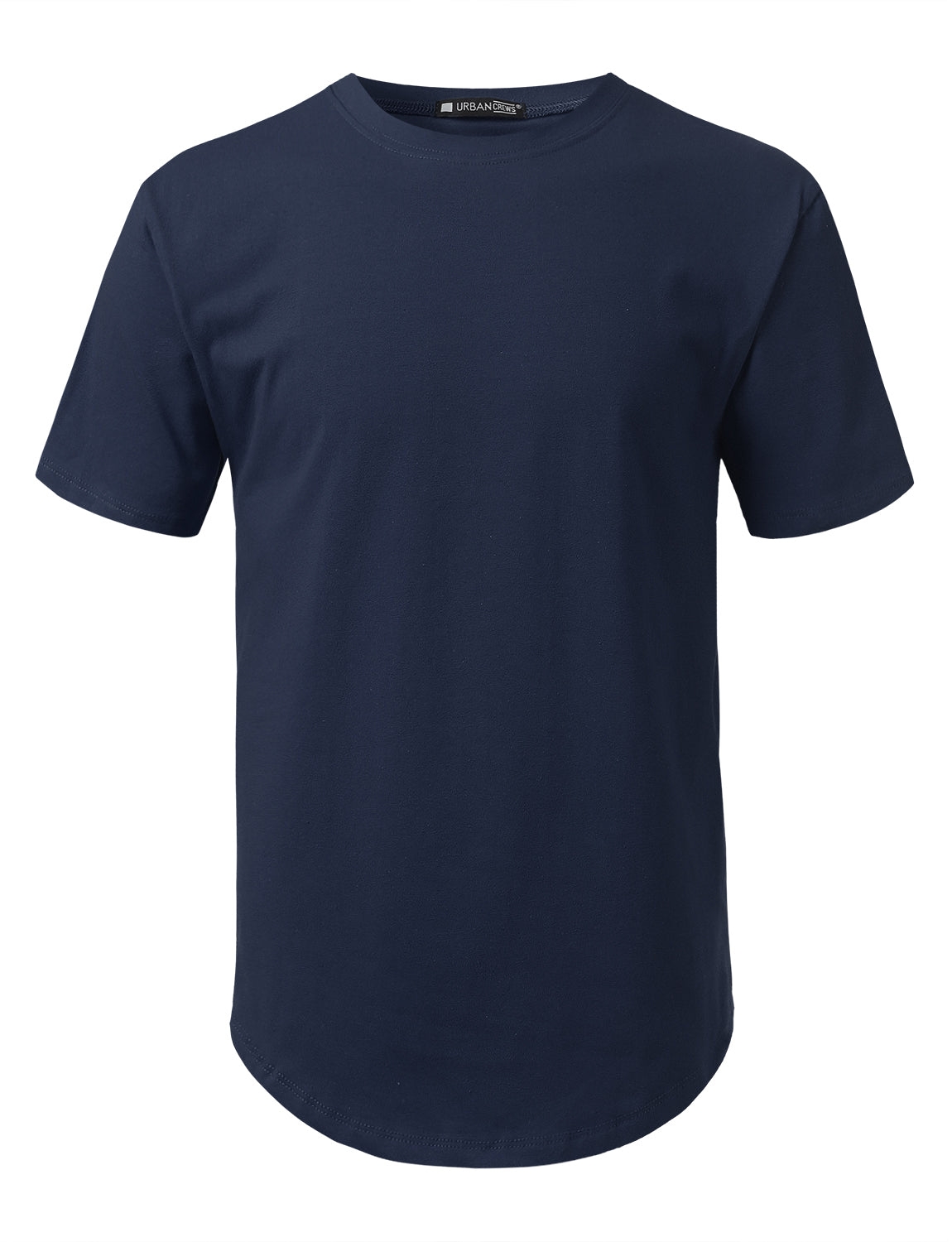 NAVY Solid Color Cotton T-shirt - URBANCREWS