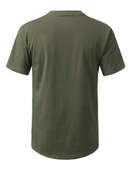 OLIVE Solid Color Cotton T-shirt - URBANCREWS