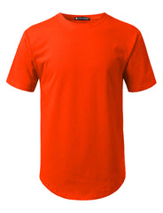 ORANGE Solid Color Cotton T-shirt - URBANCREWS