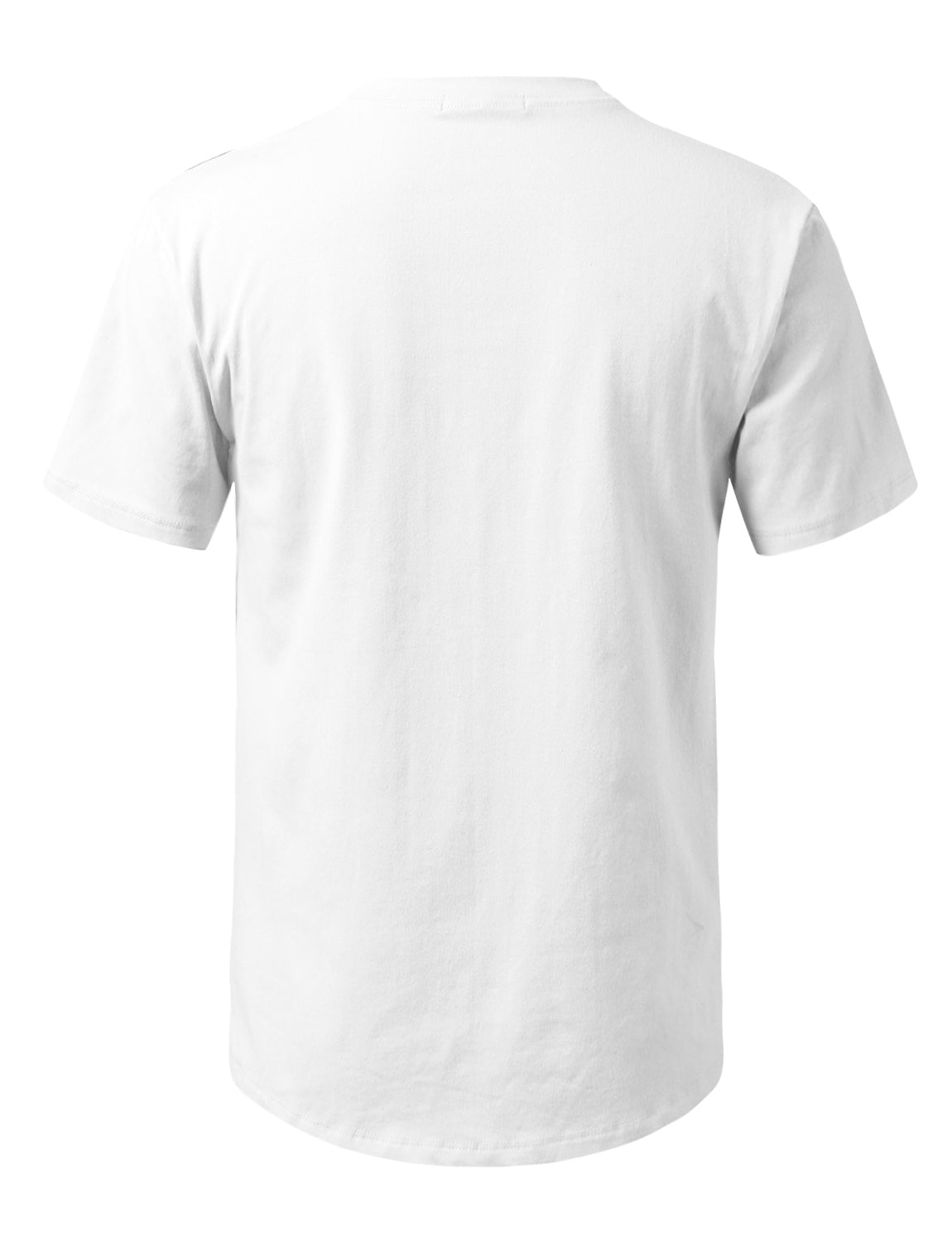 WHITE Solid Color Cotton T-shirt - URBANCREWS