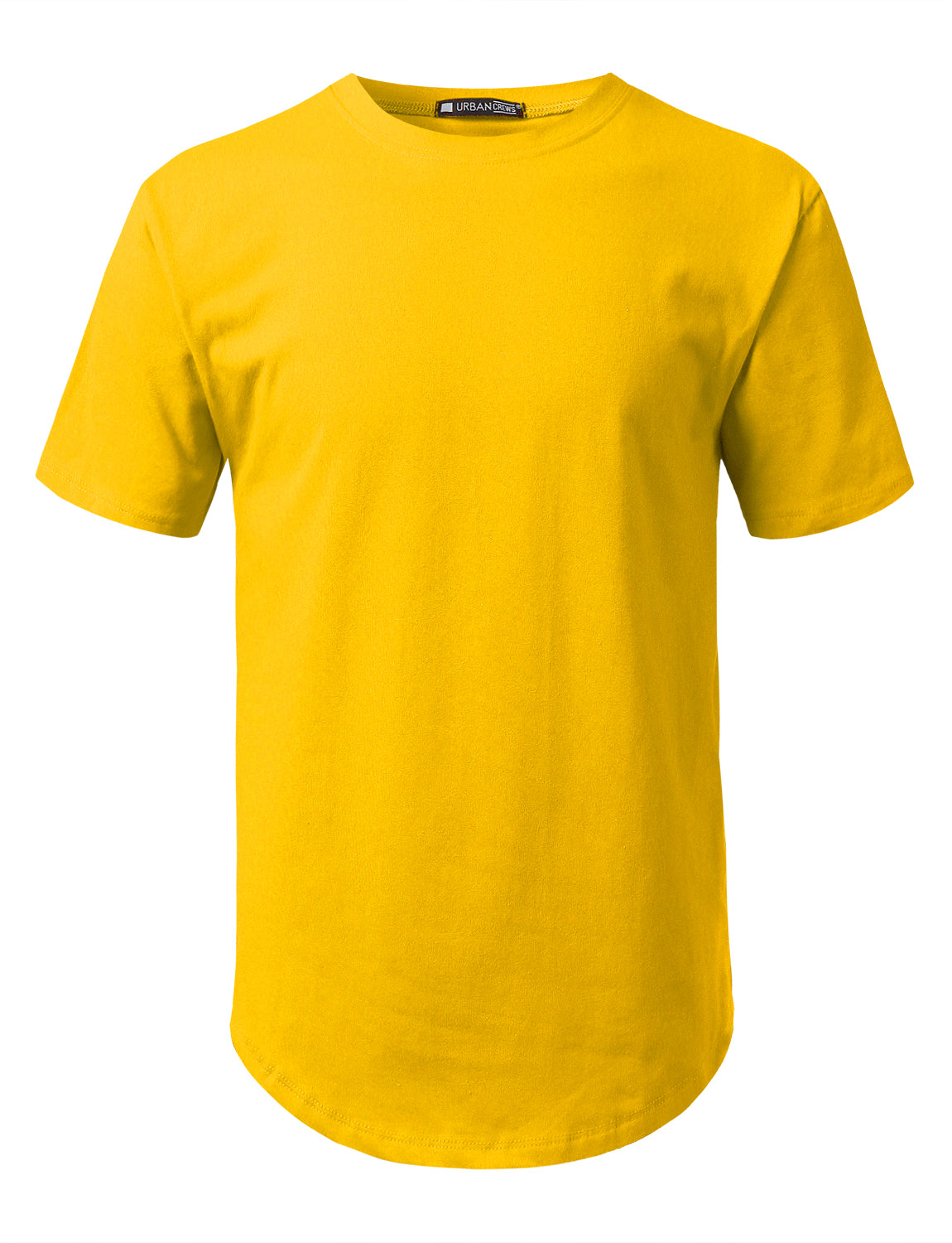 YELLOW Solid Color Cotton T-shirt - URBANCREWS