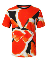 WATERMELON Big Food Pattern Graphic Print T-shirt - URBANCREWS