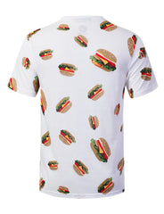 CHEESEBURGER Big Food Pattern Graphic Print T-shirt - URBANCREWS