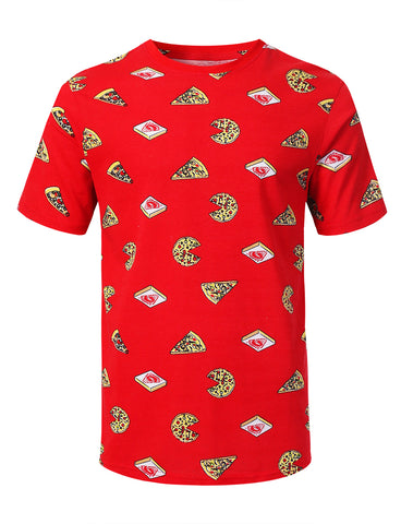 Mini Food Pattern Graphic Print T-shirt