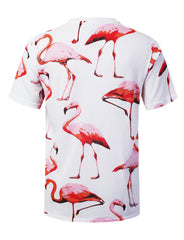 FLAMINGO Animal Graphic Print T-shirt - URBANCREWS