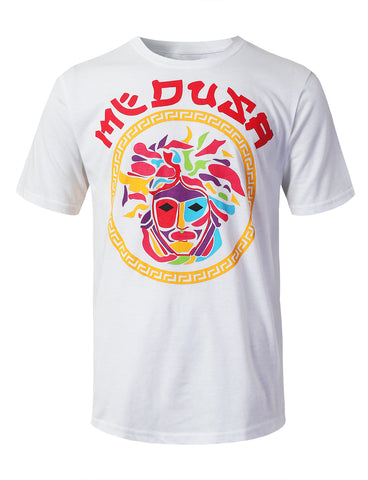 Colorful Medusa Graphic Print T-shirt