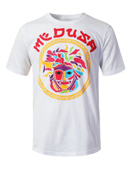 WHITE Colorful Medusa Graphic Print T-shirt - URBANCREWS