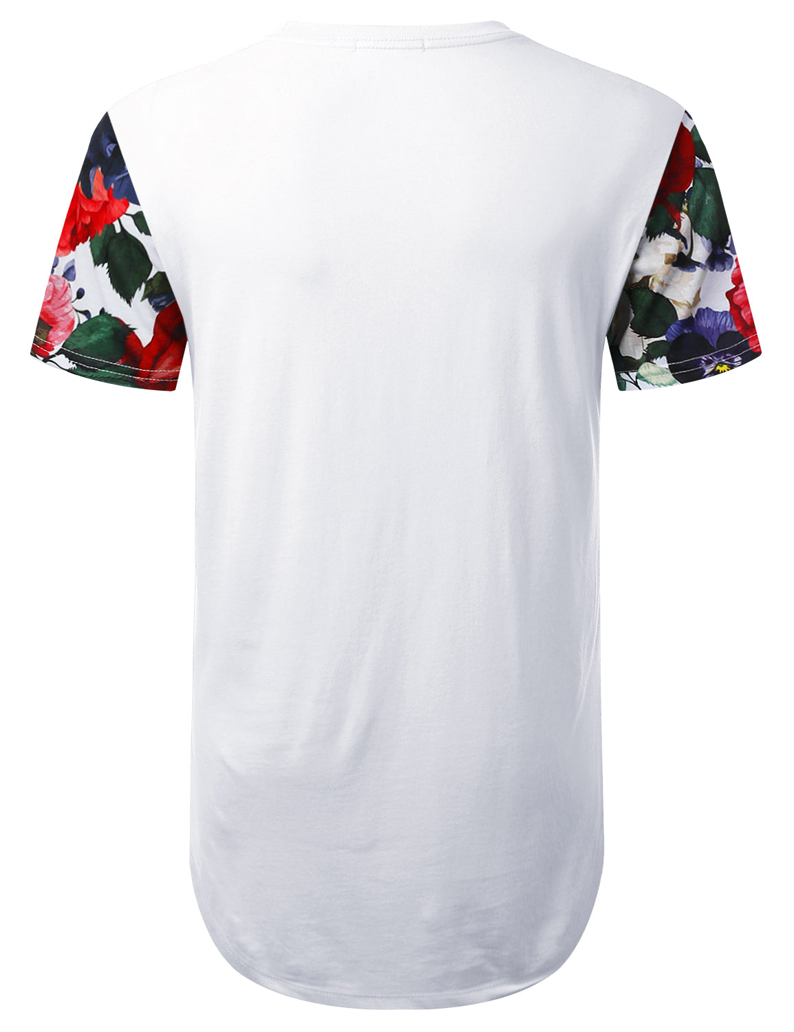 WHITE Rose 90 Graphic Longline T-shirt - URBANCREWS