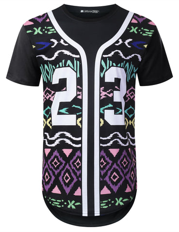 Patterned 23 Graphic Longline T-shirt