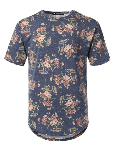 Floral French Terry Longline T-shirt