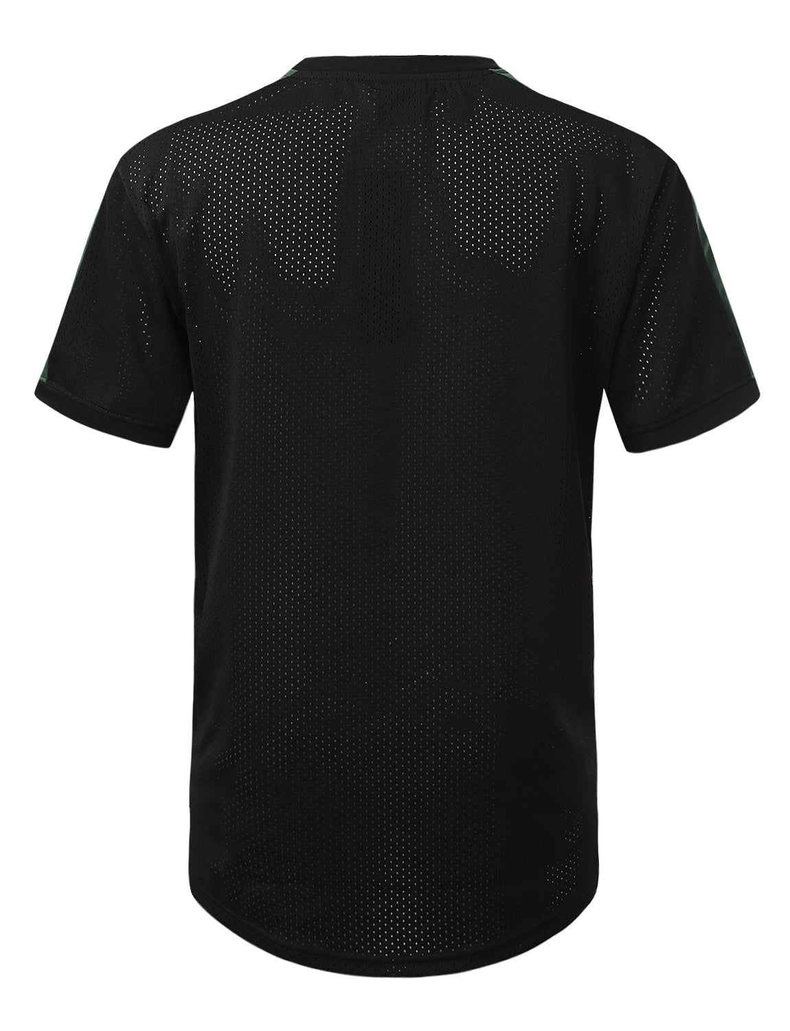 BLACKRED 3 Stripe Side Panel Mesh Jersey Tee - URBANCREWS