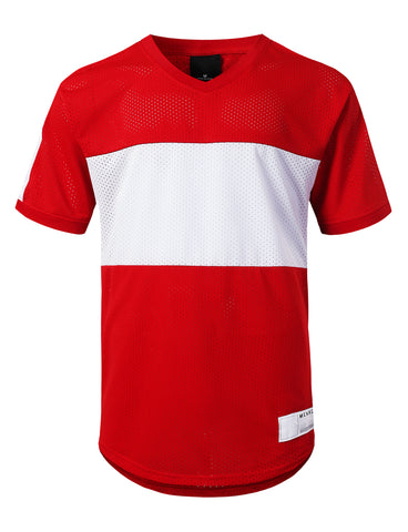 3 Stripe Side Panel Mesh Jersey Tee