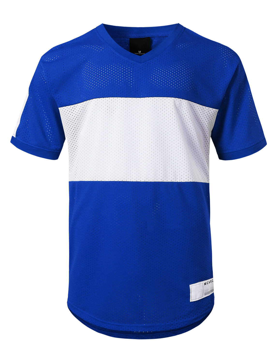 ROYAL 3 Stripe Side Panel Mesh Jersey Tee - URBANCREWS
