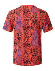 CORAL Big Pineapple Graphic Print T-shirt - URBANCREWS