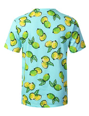 BLUE Lemons Graphic Print T-shirt - URBANCREWS