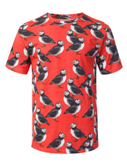 CORAL Penguins Graphic Print T-shirt - URBANCREWS