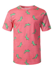 PINK Crocodiles Graphic Print T-shirt - URBANCREWS