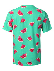 TURQ Watermelons Graphic Print T-shirt - URBANCREWS