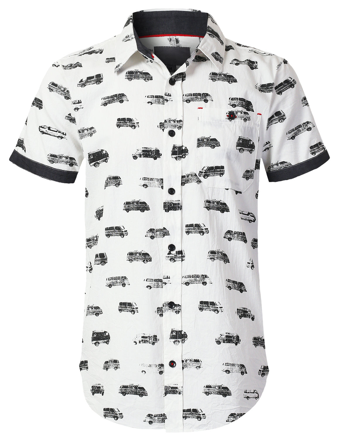 WHITEBLACK Graphic Printed Button Down Shirt - URBANCREWS