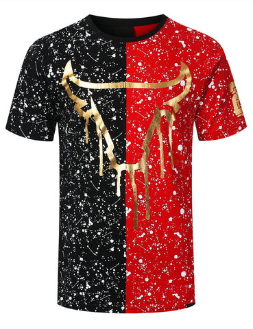 Bulls Colorblock Splatter T-shirt
