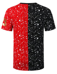 BLACKRED Bulls Colorblock Splatter T-shirt - URBANCREWS